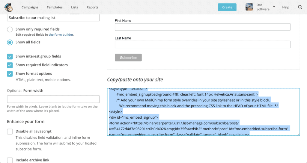 [Picture Guide] How To Add MailChimp Optin-Box To Your WordPress Sidebar 3