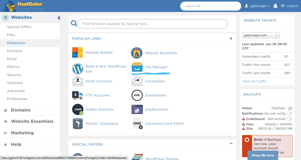 Login to your CPanel and locate File Manager