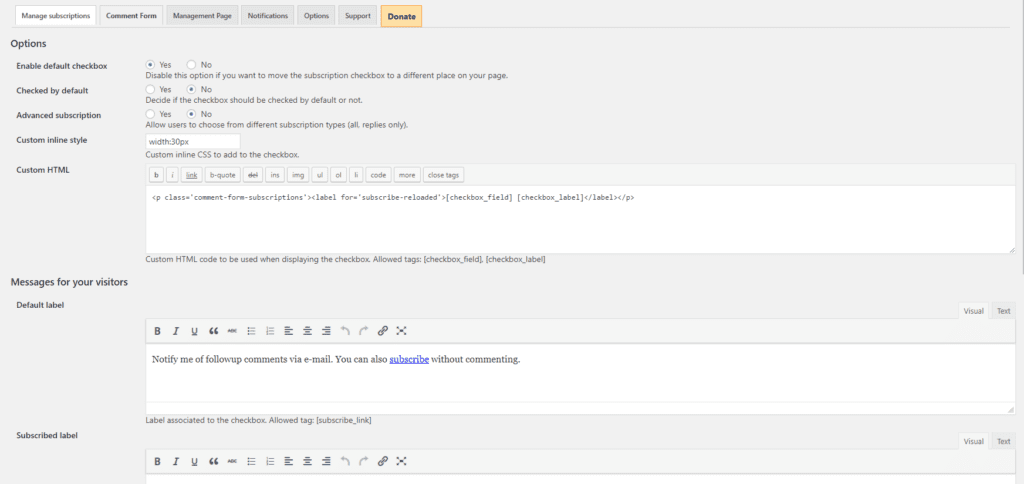 How Your Blog Reader Can Enable Comments Subscription In WordPress 3