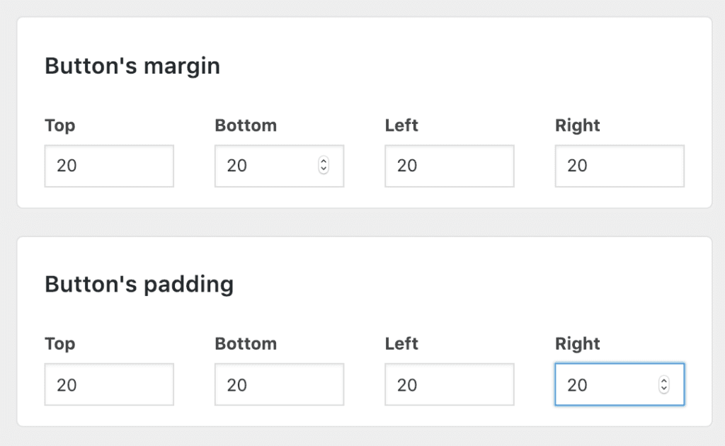 change add to cart button padding and margin woocommerce