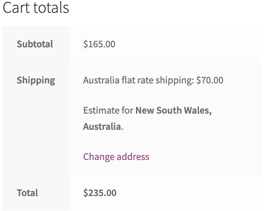 cart total changed after shipping calculation type changed