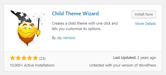 plugin to create child theme