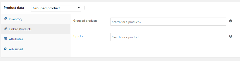 adding simple products to grouped products - step 1