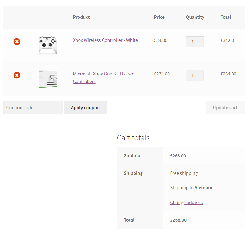 buy test order on woocommerce