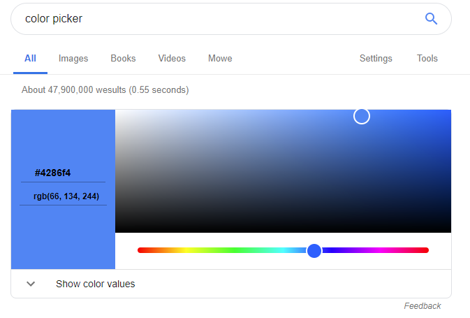color picker by google