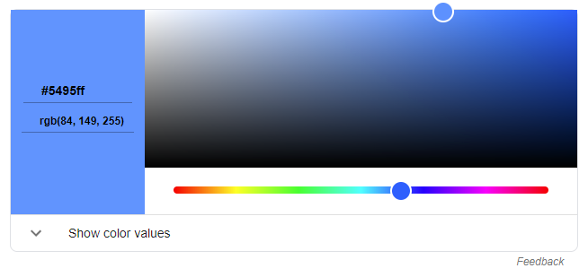 get the color code from color picker