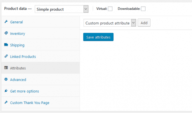 go to product data then attributes