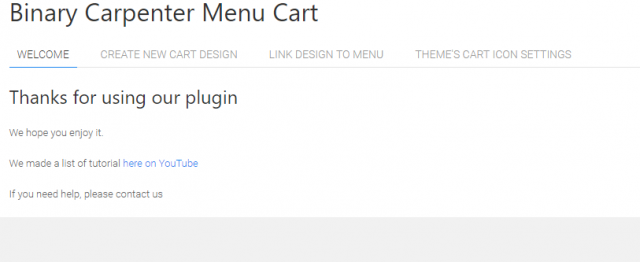 bc menu cart main interface