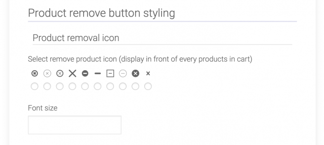 product removal button section