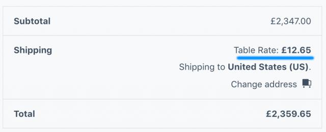 shipping cost for scenario 2