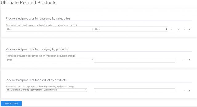 Set related products for a category from other categories