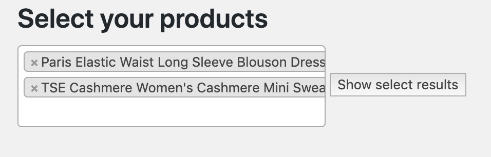 Create WooCommerce Products Search Input For Your Plugins 2