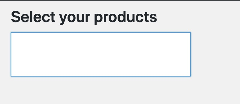 Create WooCommerce Products Search Input For Your Plugins 1