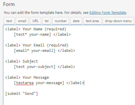 contact form 7 code