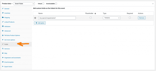 add custom fields to the product