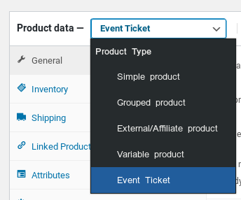 WooCommerce event ticket product type