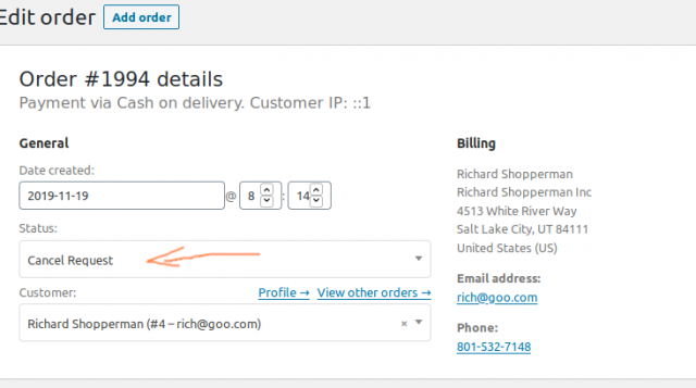 Let Customers Request Order Cancellation In WooCommerce