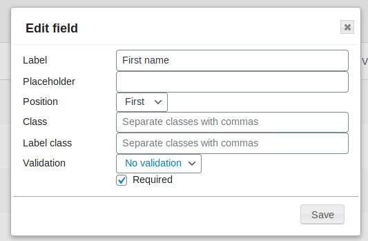 YITH WooCommerce Checkout manager edit single field form