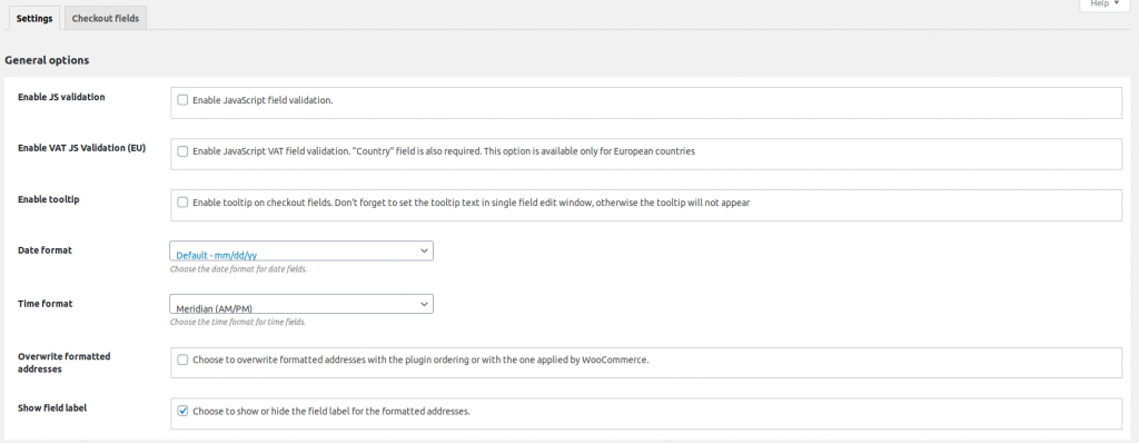 YITH WooCommerce Checkout manager general setting 1