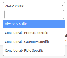 checkout field visibility manager
