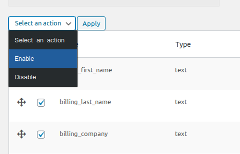 enable and disable multiple fields