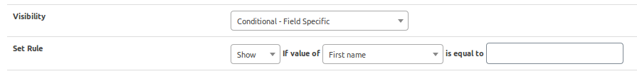 field visiblity conditional