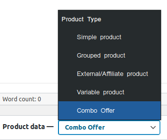 new product type combo offer