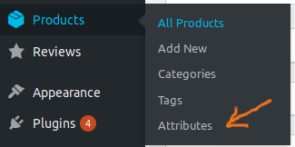 start creating attributes on WooCommerce