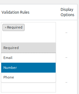 support validations types in woocommerce checkout field editor