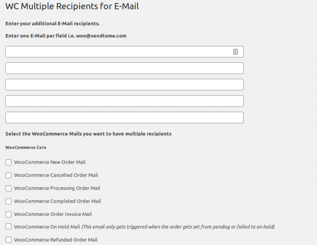 [Solved] WooCommerce Additional Email Recipients 2