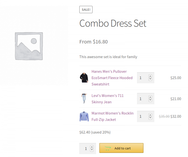woocommerce combo product