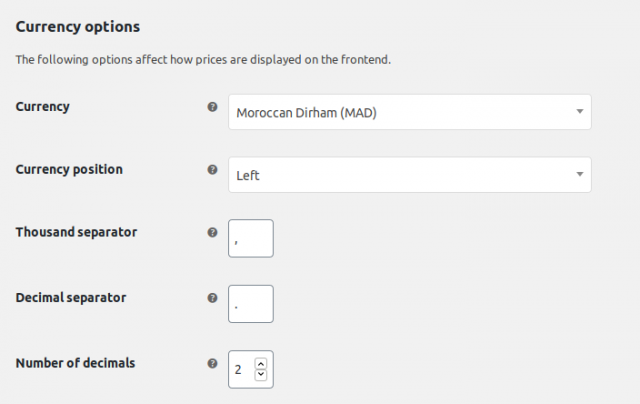 woocommerce currencies arabic